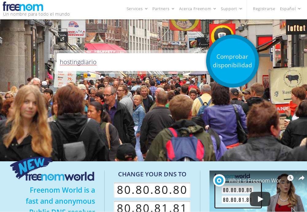 freenom: uno de los proveedores de dominios gratis