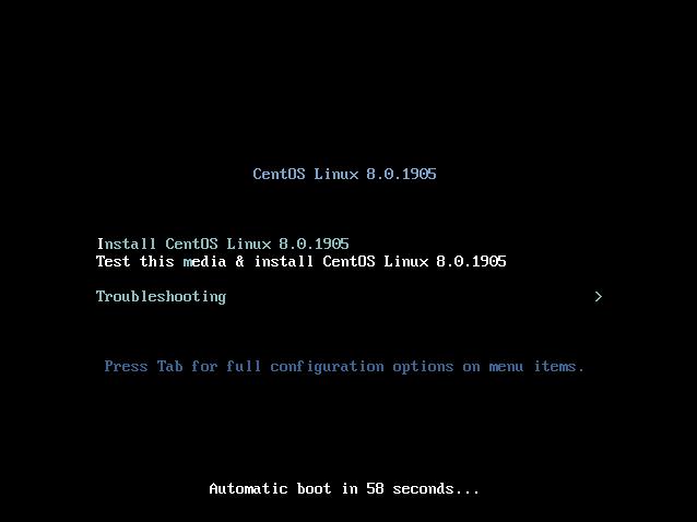 Instalación de CentOS Linux 8